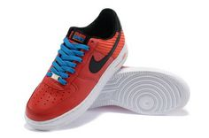 huge discount 26d65 e61e2 2013 Nike Air Force 1 Low Red Red Womens Sneakers