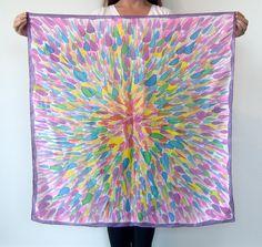 "Hand Painted Silk Scarf ""Caroline"" One of a Kind. $80.00, via Etsy."