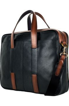 Free shipping and returns on Cole Haan 'Buchannon' Briefcase at Nordstrom.com. Two-tone leather construction enriches a handsome briefcase built for professional style and modern utility. Leather Laptop Bag, Leather Briefcase, Laptop Bags, Mens Satchel, Briefcase For Men, Messenger Bag Men, Leather Accessories, Leather Handbags, Leather Bags