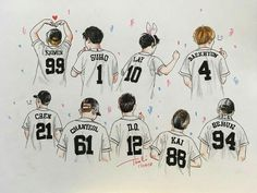 EXO <credits to owner> Exo Kokobop, Exo Kai, Exo Ot12, Chanbaek, Exo Cartoon, Exo Stickers, Exo Anime, Exo Fan Art, Exo Lockscreen
