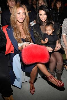Beyonce, Kim Kardashian and North West sit front row at #NYFW. See all the best dressed attendees here: