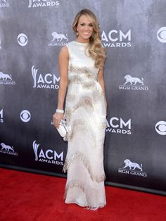 This Fringed Silver Dress Looks Fabulous on Carrie Underwood at the 2014 ACM Awards. See More at http://my.gactv.com/acm-awards/2014-Red-Carpet/Carrie-Underwood/detail.esi?oid=31021896