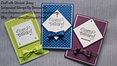 Simple Birthday Cards using Eastern Palace Designer Series Paper