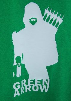 Green Arrow Silhouette T-Shirt by DJsDecals on Etsy