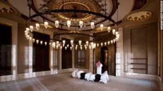 """Worshipers pray inside the Golden Mosque. """"I think when you step inside a mosque, like any other religious building, you leave everything to do with the outside world, outside the door,"""" said Fadillioglu. """"It should be a place of serenity."""""""