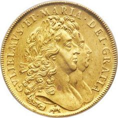 """Great Britain, Great Britain: William & Mary gold """"Elephant & Castle"""" 5Guineas 1692 MS63 PCGS,..."""