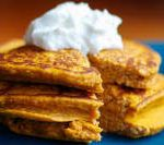 Skip the sugary pumpkin spiced lattes and go for these pumpkin protein pancakes instead. With this recipe, you can start your morning with 22 g of protein.