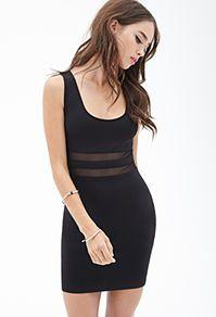 Mesh Scuba Knit Dress - Forever 21