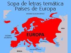 Sopa de letras interactiva temática: países de Europa #sopadeletras