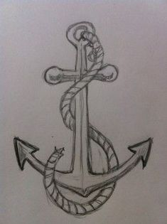 If you want to learn to draw a simple and easy anchor then you need to take a look at this drawing tutorial. It teaches you a step-by-step process to draw a simple anchor quickly. Find out more. # learn to draw easy How to Draw an Anchor Anchor Drawings, Amazing Drawings, Art Drawings Sketches Simple, Pencil Art Drawings, Cool Drawings, Anchor Sketch, Dragon Drawings, Beautiful Easy Drawings, Pretty Drawings
