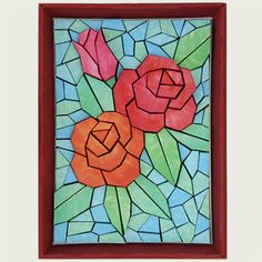 Canon CREATIVE PARK. Paper Mosiac 3d Flower. Click on link for free templates. http://cp.c-ij.com/fr/contents/2003/paper-mosaic-rose/index.html