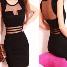 Little black cut out dress NWOT mini black cutout dress. -boutique Dresses Mini