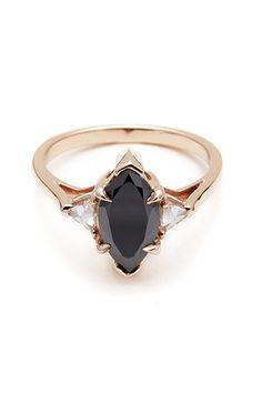 Anna Sheffield Black Diamond Marquis Bea Ring, $4,900; annasheffield.com Courtesy of Companies - ELLE.com
