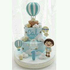 Bebe Boys Bday Cakes, Airplane Birthday Cakes, Baby Birthday Cakes, Baby Boy Cakes, Cakes For Boys, 1st Boy Birthday, Baby Shower Cakes, Cake Kids, 1st Year Cake