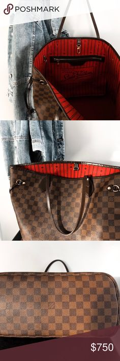 LV neverfull AUTHENTIC Brown LV Neverfull. In good condition. 100  Authentic. LV Neverfull 565ffac4ed53e