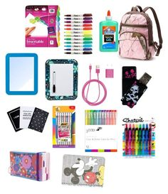 Designer Clothes, Shoes & Bags for Women Backpack Essentials, Road Trip Essentials, School Kit, School Ideas, School Backpack Organization, First Day Of School, Back To School, Pony Party, Survival Kits