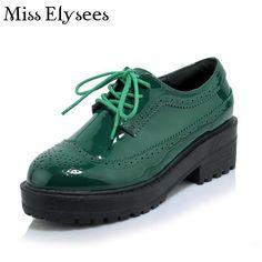 Mulheres Oxfords Plataforma Da Forma Das Mulheres de Design Da Marca de luxo Sapatos de Couro Salto Baixo Sapatos Casuais para As Mulheres Sapato Feminino em Apartamentos das mulheres de Sapatos no AliExpress.com | Alibaba Group