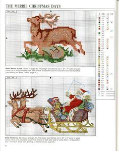 Cross stitch Christmas *<3* Point de croix Noël.