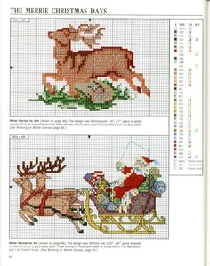 Cross stitch Christmas *<3* Point de croix Noël.
