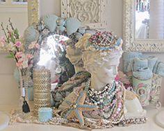 Penny's Vintage Home: Coastal Powder Room