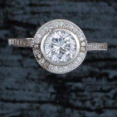 Round CZ Bezel Ring by Kelly Herd