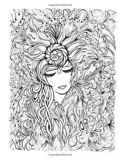 To print this free coloring page «coloring-flower-face-woman», click on the printer icon at the right