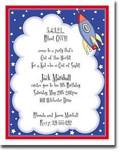 Rocket Blast #kids #birthday #invitation