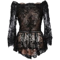 26234a398f40f Shop Off The Shoulder Beaded Lace Peplum Top. This   Marchesa   top is  rendered in beaded lace and features a scalloped off the shoulder neckline  with ...