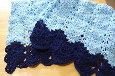 Lacy V-stitch Ripple Afghan | AllFreeCrochet.com