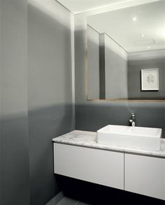 Plascon Spaces Magazine strives to listen and understand our customers' needs, and provide guidance and inspiration. Dark Ombre, Look Dark, Ombre Effect, Room Inspiration, Favorite Color, Mirror, Space, Bathroom, Furniture