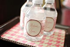 DIY Printable Water Bottle Labels....maybe I'll try this for Sarka's baby shower?