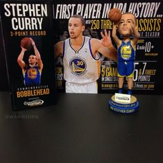 Coming to tonight's game? Suggest you get there early because the first 10,000 fans get a commemorative 'Stephen Curry 3-Point Record' bobblehead! #Warriors #NBABallot