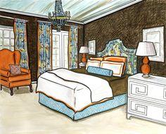 Invitations, Ink, Social Design Studio: Interior Design Rendering