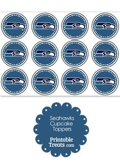 Printable Seahawks Logo Cupcake Toppers from PrintableTreats.com