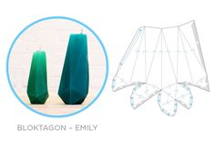 Geometric Downloadables for Concrete Vases, Coat Hooks and Candle Moulds - Image Emily