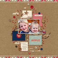In the Orchard pocket cards, elements, & papers by Stolen Moments Design The Dry Ribbon font by Heather Joyce