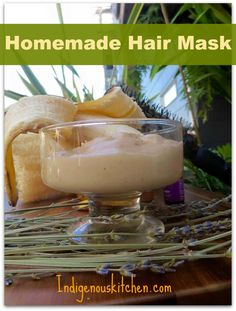 DIY Hair Mask ~ Homemade Hair Mask Homemade Beauty, Diy Beauty, Beauty Stuff, Autumn Inspired Recipes, Homemade Hair Treatments, Natural Hair Mask, Garden Route, Diy Hair Mask, Fluffy Hair