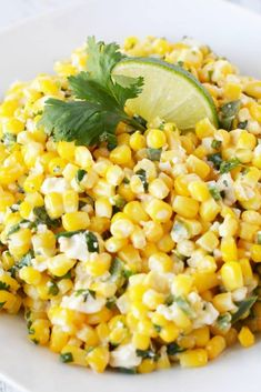 Mexican Street Corn Salad with feta cheese, diced jalapeno, and delicious cilantro is a flavorful cold corn side dish perfect for summer BBQs and Potlucks!