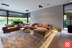 Villa on the outskirts – High ■ Exclusive inspiration for the living room and garden. House Design, Home Living Room, House, Home, Living Room Decor, House Plans, Luxury Homes, New Homes, Home And Living