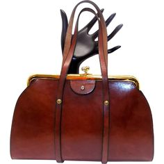 Vintage Etienne Aigner Red Original Leather Handbag Beautiful Rare dbf7b7e5bcde4