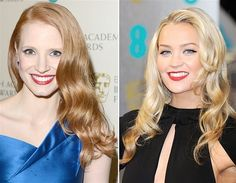 Jessica Chastain and Laura Whitmore  (© Jon Furniss/Invision/AP)