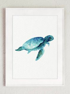 Oceanic Life Animals Art Print set of 3 Blue and Teal Watercolour Painting. Sea Creatures Poster. Whale Illustration, Sea Horses Wall Decor, Seaturtle under the Sea Picture. A price is for the set of 3 different Sea Animal Art Prints as in the first Picture. Type of paper: Prints up