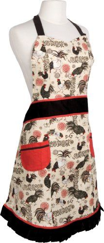 Now Designs Betty Apron, Rustic Rooster - http://rustic-touch.com/now-designs-betty-apron-rustic-rooster/