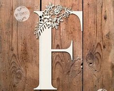SALE Floral Letter 'F' SVG Pdf Design - Papercutting Vinyl Template Commercial Use - Papercut - nursery papercut - new baby papercut Paper Cutting Patterns, Stencil Patterns, Kirigami, Paper Cut Design, Diy Gift Box, Paper Lace, Floral Letters, Crafts To Make And Sell, Wooden Art