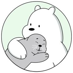 Ice Bear We Bare Bears, We Bear, We Bare Bears Wallpapers, Cute Wallpapers, Cute Drawings, Animal Drawings, Cartoon Network, Telegram Stickers, Bear Wallpaper