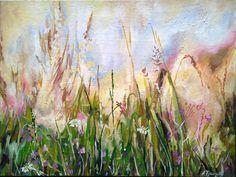 Landscape painting original oil painting Field impressionist
