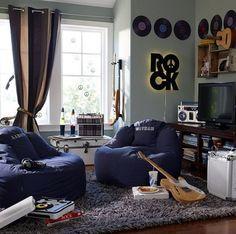 Deko Wand Ideen Musik Zimmer Jugendliche Design