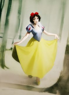 Disney Princesses Real Women - Snow White  (http://www.bitrebels.com/design/disney-princesses-redesigned-as-real-women/)
