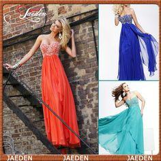 Find More Prom Dresses Information about HE155 Sweetheart Crystals Bodice Empire Chiffon Long Orange Prom Dress Gown Evening,High Quality Prom Dresses from GMBridal on Aliexpress.com