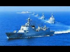 Chinese Navy Ship in USA Water